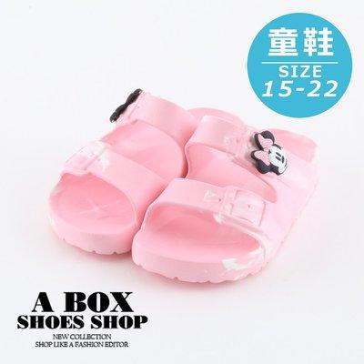 格子舖*【KE118357】迪士尼原廠代理 正版可愛米妮粉色防水休閒拖鞋 MIT台灣製 1.5CM