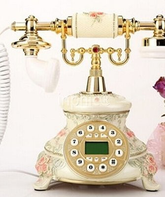 INPHIC-時尚復古電話歐式家用固定座機韓式復古電話機卡通電話機