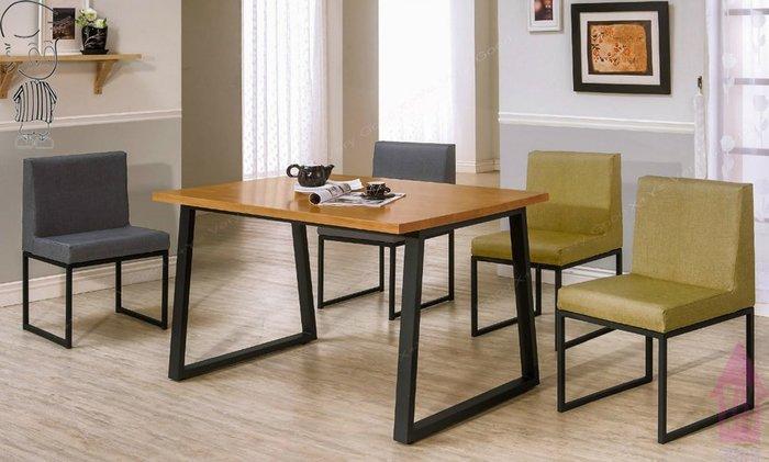 【X+Y時尚精品傢俱】現代餐桌椅系列-威爾斯4.3尺實木面黑腳餐桌不含餐椅.簡約風.摩登家具