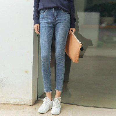 2019夏裝韓版新款個性緊身牛仔褲高腰顯瘦學生小腳鉛筆九分褲女潮
