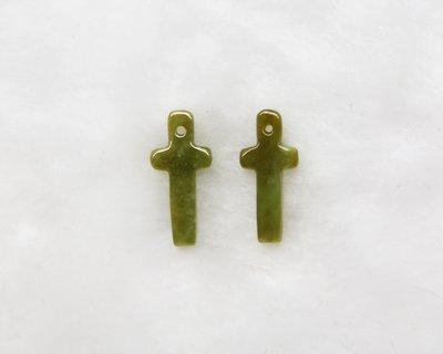 □§Disk的天然水晶§□【平安喜樂】老坑冰種黃翡十字架雕墜(可當耳墜)BH-29-A貨專賣~全館滿千9折+超取免運