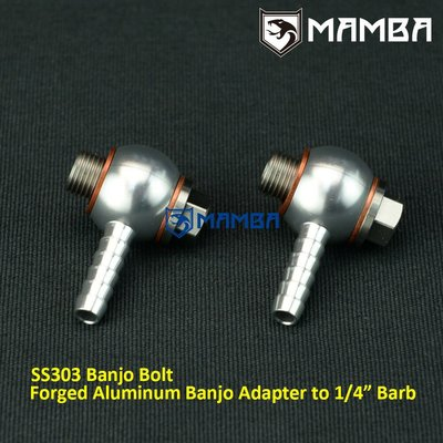 Aluminum Air Fitting Set 10mm for all wastegate & bov