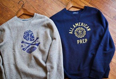 『Kurbis Store』 Polo ralph lauren 海軍徽章 / 骷髏 內刷毛 大學tee 厚棉 衛衣