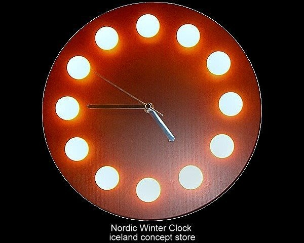 iceland ~ 造型時鐘北歐的冬天桌掛兩用原木時鐘 (賠錢賣NT$4500,買到賺到)