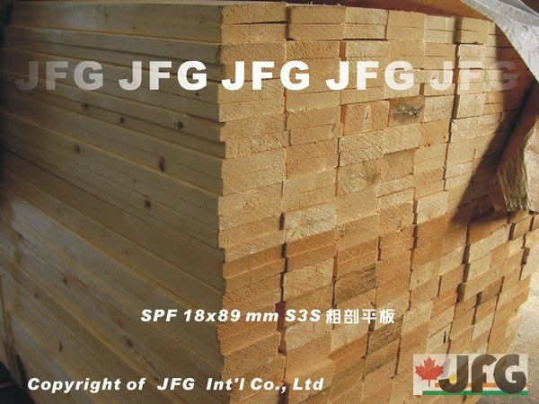 "JFG 原木建材 *【SPF1x4"" 粗剖平板】18x89mm 木板 模板 棧板 圍籬 欄杆 木工 裝潢 地板 雲杉"