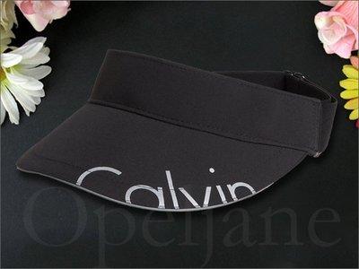 CK Calvin Klein 卡文克萊 男女適用黑色爬山運動跑步遮陽空頂 遮陽帽中空帽高爾夫網球帽子愛COACH包包
