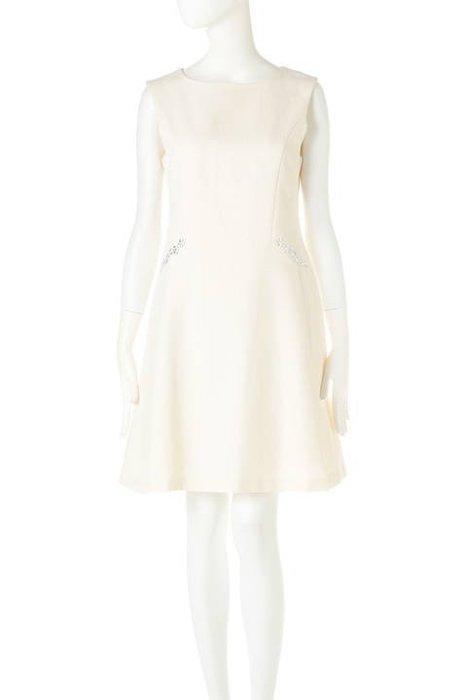 Jill by Jill Stuart正品 白色水鑽洋裝 日本專櫃 M號