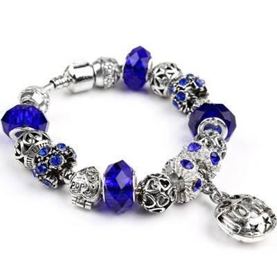 手鍊 串珠手環-水晶飾品藍色氣質精緻七夕情人節生日禮物女配件73bm207[獨家進口][米蘭精品]