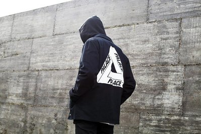 全新商品 Palace Skateboards 15SS COACH JACKET LOGO 夾克 風衣外套 黑色