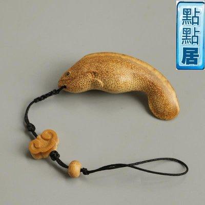 【點點居】手工雕刻手工雕刻竹根雕鯰魚年年有余掛件把玩文玩掛墜茶具茶寵把玩竹製品DD01524