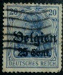 1916年德意志帝國佔領比利時王國Germania郵票25cents