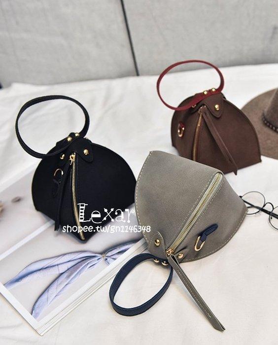 韓國休閒新款磨砂三角包女包粽子包時尚單肩斜跨手提手拎小包