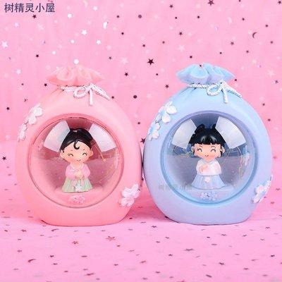 千禧禧居~創意復古中國風漢服女孩小夜燈可愛家居裝飾臥室桌面擺件精品禮物