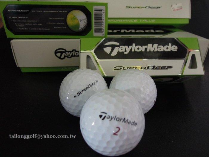 全新TaylorMade SUPER  DEEP 高爾夫球 (2層) 【12入裝】