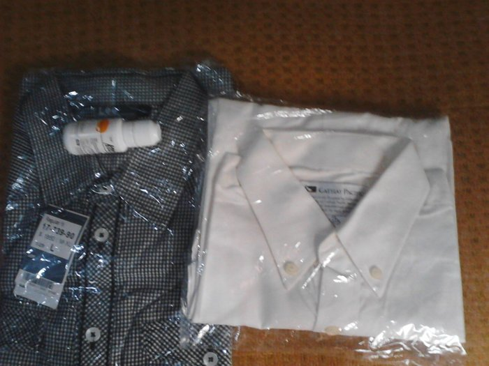 L細格品牌襯衫˙肩48armani lv dw 耐吉 mk levis 5th短袖長23cm