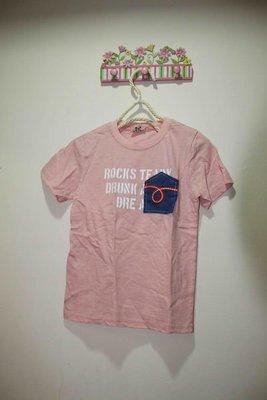 韓國粉紅色棉T