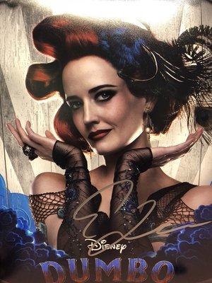 好萊塢影星 Hollywood 小飛象 伊娃葛林 全彩高解析劇照+COA認證照片簽