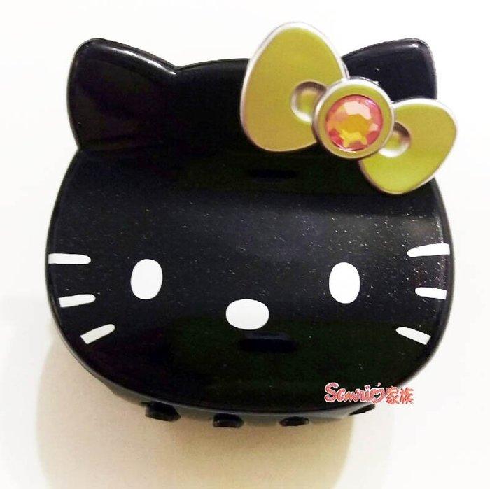 《東京家族》台灣製 Hello kitty 銀色蝴蝶結 黑色大頭造型髮夾髮飾鯊魚夾