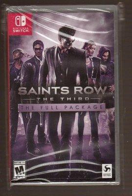 全新 NS Switch 原版片 英文版 黑街聖徒3 完全版