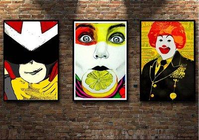 裝飾畫波普藝術Pop~art 抽象動漫頭像卡通掛畫 多款