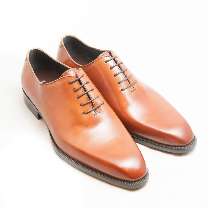Whole Cut牛津鞋:手工上色小牛皮真皮男鞋皮鞋-干邑色-免運費-[LMdH直營線上商店]E1B27-80