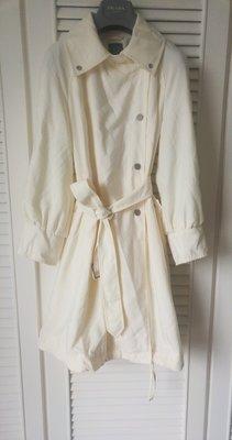 Armani Exchange 奶油白軍裝式風衣繫帶洋裝兩穿