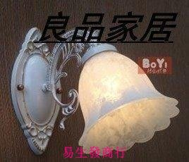 【易生發商行】歐式壁燈簡約地中海臥室田園鏡前燈單頭壁燈床頭燈壁燈現代燈具F6381