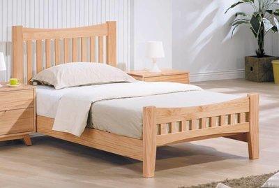 【風禾家具】FHY-146-9@EN本色3.5尺床台【台中8000送到家】單人床 床架 北歐風 傢俱 原木色 高低可調