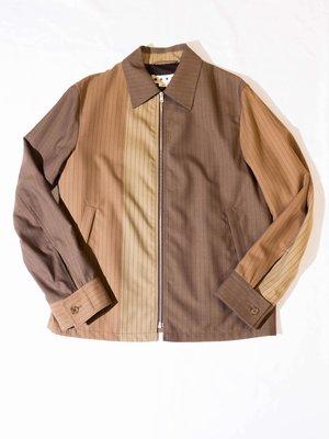 MARNI 001F Camel Jacket 夾克 襯衫外套 拉鍊外套 拼接