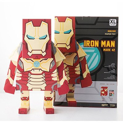 全新 Ironman Mark 42 紙模型 11吋 DIY Marvel MOMOT Ironman Mark XLII 摺紙