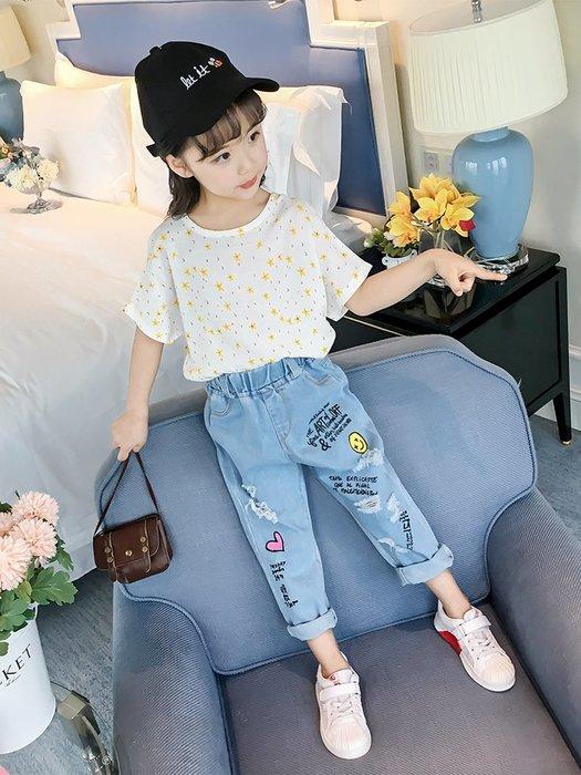童裝女童短袖2019新款寶寶夏裝時尚棉上衣韓版潮衣外穿兒童t恤