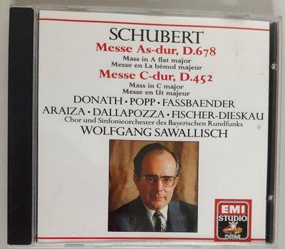 舒伯特Schubert Messe As-dur, D678, Mess C-during. D.452沙瓦利許Wolfgang Sawallisch【片如新】