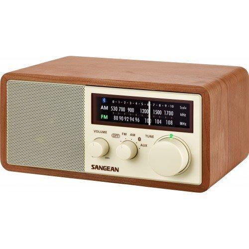 【元電】山進 WR-16 二波段 藍牙無線配對 復古收音機 AUX IN音訊輸入 3 英吋10W全音域高音質喇叭