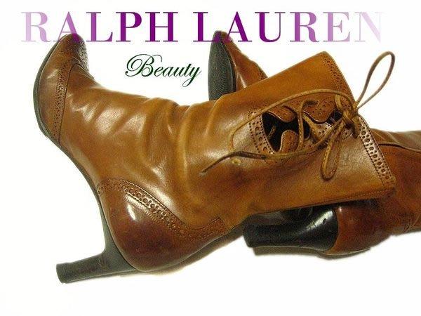 *Beauty*RALPH LAUERN最高等級紫標系列牛津短靴 37號 原價三萬多元