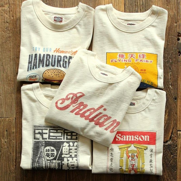 ☆COOKIE@RUGGISON☆2019秋季到貨-復古風格竹節棉長袖圓領T恤!!共有五款!原始布料米白色