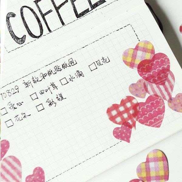 《Jami Honey》【JC3214】四葉草愛心水滴彩旗裝飾貼紙 手帳貼紙