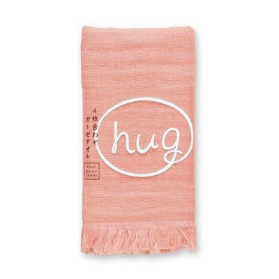 [偶拾小巷] 日本製 HUG純棉四層紗布長毛巾 - 桃紅色