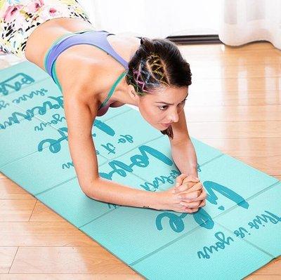瑜伽墊 可折疊便攜式瑜伽墊防滑超薄旅行迷你小號方便攜帶女瑜珈健 【快速出貨】