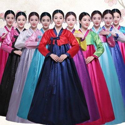 P038055~少許現貨+預購款新款韓國傳統女士宮廷婚慶韓服朝鮮民族服裝婚慶舞蹈台表演出古裝