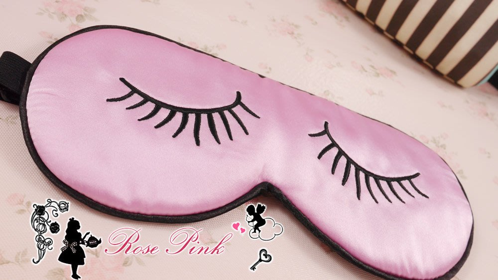 【 RosePink 蠶絲眼罩】睫毛彎彎眼睛眨呀眨♥可愛又俏皮 蠶絲眼罩 雙眼皮 黑眼圈煩惱掰掰