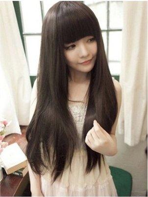今日下殺169再送(髮網+鋼梳)~現貨【P17】甜美可愛長直髮蓬鬆高溫絲全頂式假髮3色