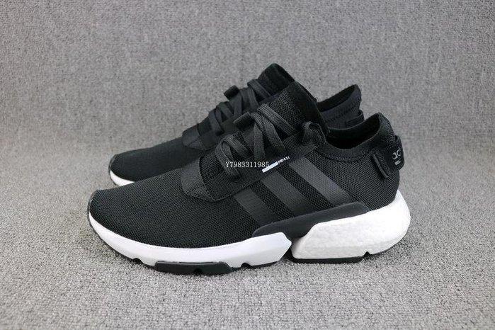 Adidas Originals POD-S3.1 黑白 百搭 網面透氣 休閒運動慢跑鞋 男女鞋 B37466