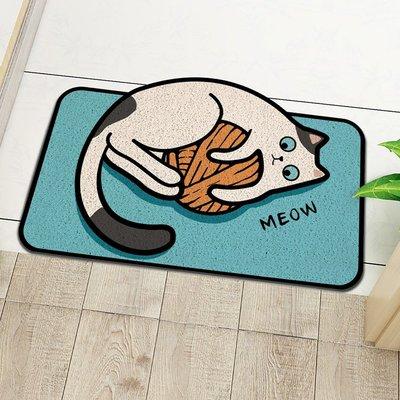 世界購 卡通可愛貓咪進門地墊 異形絲圈地毯 入戶門口門外玄關腳墊 門墊
