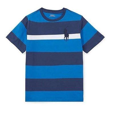 Polo Ralph Lauren 大馬 現貨 青年款 短袖 T恤 藍/寶藍/白條紋