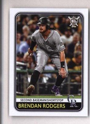 2020 Topps Big League #168 Brendan Rodgers - Colorado Rockies