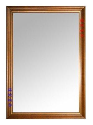 ◎『佳家生活藝術』→高貴柚色金邊框【含框尺寸約62*77公分】穿衣鏡/掛鏡◎訂做鏡子