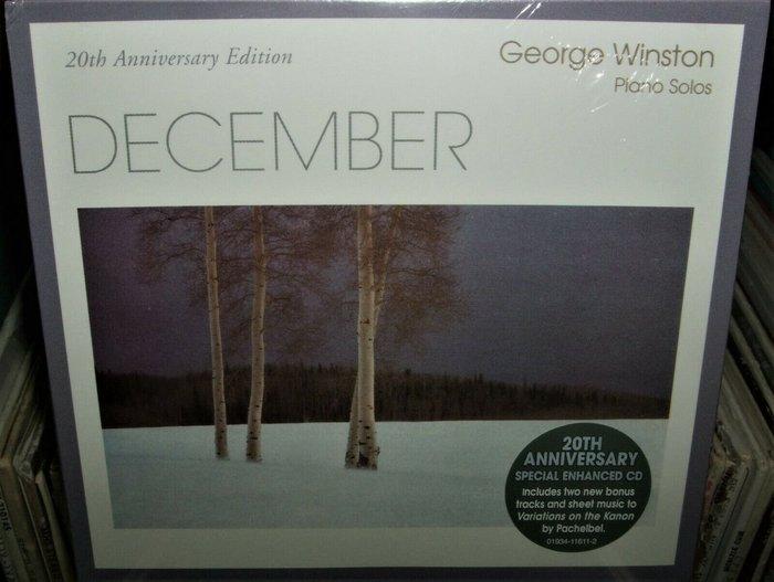 歐版CD《喬治溫斯頓》十二月20週年紀念版 /GEORGE WINSTON DECEMBER全新未拆