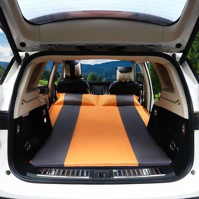 @上新夏季新款 奧迪Q7汽車充氣床墊SUV后備箱床Q5車用氣墊床車載床墊Q5L旅行床 深藍色麂皮絨面料平面款式