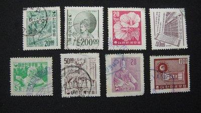 【大三元】韓國銷戳票- E103  各類老票8枚