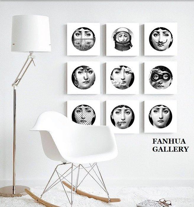 C - R - A - Z - Y - T - O - W - N FORNASETTI義大利女神臉譜簡約復古懷舊時尚居家裝飾畫無框掛畫空間設計裝飾品樣品屋版畫